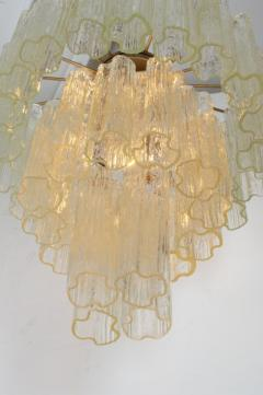 Three Tiered Tronchi Tube Murano Glass Chandelier by Camer - 775270