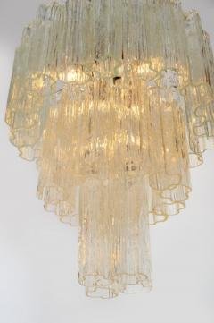 Three Tiered Tronchi Tube Murano Glass Chandelier by Camer - 775271