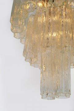 Three Tiered Tronchi Tube Murano Glass Chandelier by Camer - 775272