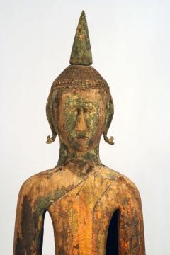 Three Village Buddha Statues from Laos - 88640