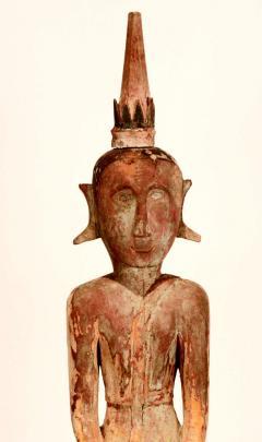Three Village Buddha Statues from Laos - 88641