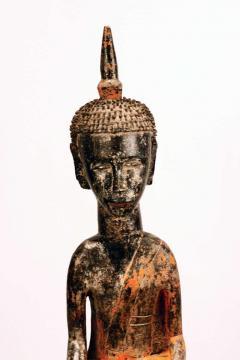 Three Village Buddha Statues from Laos - 88642
