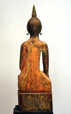 Three Village Buddha Statues from Laos - 88643