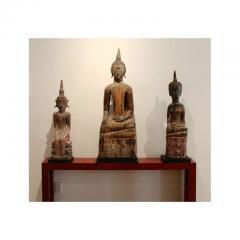 Three Village Buddha Statues from Laos - 88646