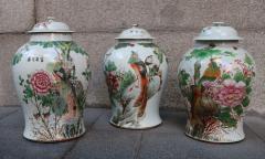 Three porcelain vases China XIXth century - 746768
