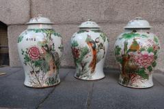 Three porcelain vases China XIXth century - 746769