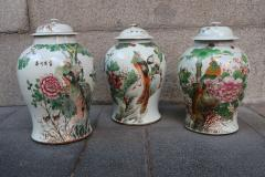 Three porcelain vases China XIXth century - 746770