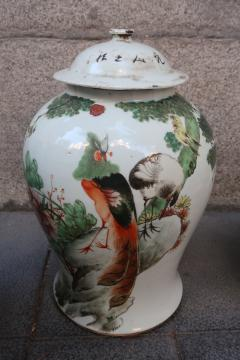 Three porcelain vases China XIXth century - 746774