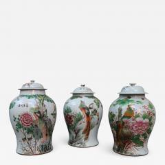 Three porcelain vases China XIXth century - 749225