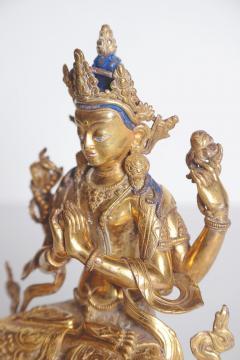 Tibetian Buddhist Deity Chenrezig Four Armed Avalokiteshvara - 2006910
