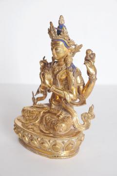Tibetian Buddhist Deity Chenrezig Four Armed Avalokiteshvara - 2006915