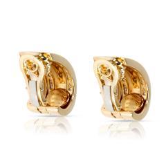 Tiffany Co Atlas Numeric Diamond Earrings in 18K Yellow Gold 1 6 CTW - 1286582