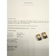 Tiffany Co Atlas Numeric Diamond Earrings in 18K Yellow Gold 1 6 CTW - 1286583