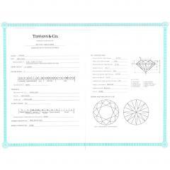 Tiffany Co Diamond Engagement Ring in Platinum F VS1 0 31 CTW - 1283958