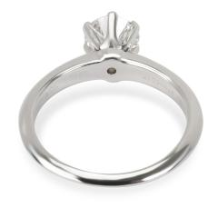 Tiffany Co Diamond Engagement Ring in Platinum F VS1 0 91 CTW - 1364619