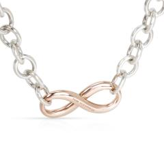 Tiffany Co Infinity Necklace in Rubedo Sterling Silver - 1287410