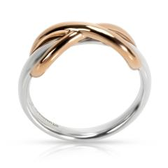 Tiffany Co Infinity Ring in Sterling 18KT Gold - 1299218