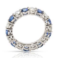 Tiffany Co Large Embrace Diamond Sapphire Band in Platinum 3 24 CTW  - 1286446
