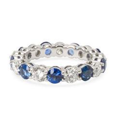Tiffany Co Large Embrace Diamond Sapphire Band in Platinum 3 24 CTW  - 1286447
