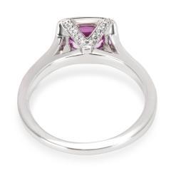 Tiffany Co Legacy Pink Sapphire Diamond Ring in Platinum - 1283987