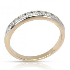 Tiffany Co Lucida Diamond Wedding Band in 18K Gold Platinum 0 55 CTW  - 1364625