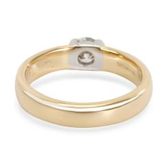 Tiffany Co Semi Bezel Diamond Engagement Ring in 18K 2 Tone Gold 0 35 CTW - 1284056