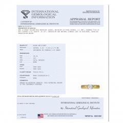 Tiffany Co Semi Bezel Diamond Engagement Ring in 18K 2 Tone Gold 0 35 CTW - 1284057