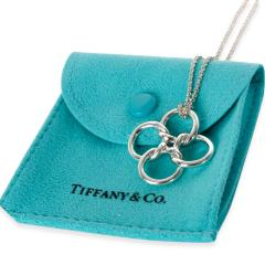 Tiffany Co Vintage Four Ring Knot Necklace in Sterling Silver - 1299072