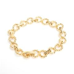 Tiffany Co Vintage Twisted Rope Infinity Diamond Bracelet in 18KT Gold 2 20ctw - 1287649