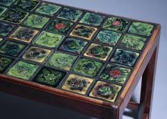 Tiffany Studios Coffee Table with Tiffany Favrile Glass Tile inlay - 1285561