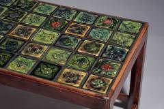 Tiffany Studios Coffee Table with Tiffany Glass Tile Inlay - 687880