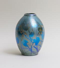 Tiffany Studios Decorated Iridescent Favrile Glass Vase - 1370656