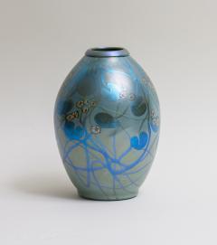 Tiffany Studios Decorated Iridescent Favrile Glass Vase - 1370657
