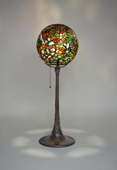 Tiffany Studios Extremely Rare Autumn Leaves Globe Lamp - 1150666