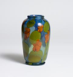 Tiffany Studios Favrile Glass Paperweight Vase with Nasturtiums - 1226433