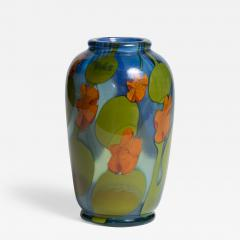 Tiffany Studios Favrile Glass Paperweight Vase with Nasturtiums - 1226701