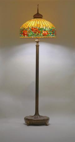 Tiffany Studios Peony Border Senior Floor Lamp - 1041691