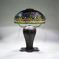 Tiffany Studios Rare Peacock Table Lamp - 1355858