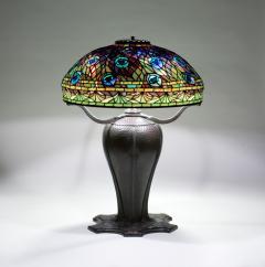 Tiffany Studios Rare Peacock Table Lamp - 1355859