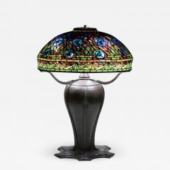 Tiffany Studios Rare Peacock Table Lamp - 1360584