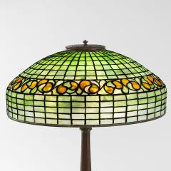 Tiffany Studios Swirling Lemon Leaf Tiffany Lamp - 971687