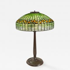 Tiffany Studios Swirling Lemon Leaf Tiffany Lamp - 972527