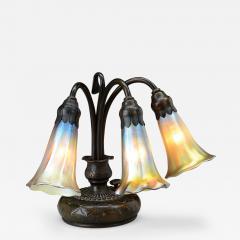 Tiffany Studios Three Light Piano Lily Tiffany Lamp - 470321