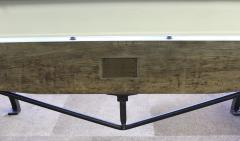 Tim Byrne Vintage Industrial Wood Steel Cast Iron Conference Dining Table - 277396