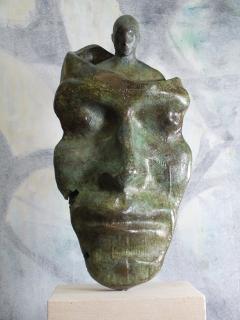 Tim Rawlins Reflective Self Unique Bronze Sculpture - 1757239