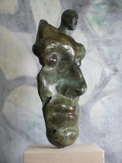 Tim Rawlins Reflective Self Unique Bronze Sculpture - 1757240