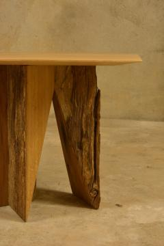 Timoth e Musset Ancient Normandy Oak New Designed Side Table by Timoth e Musset - 1323996