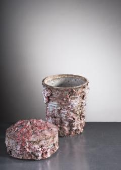 Tina Langhoff Tina Langhoff stoneware and porcelain jar with lid - 2013151