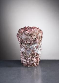 Tina Langhoff Tina Langhoff stoneware and porcelain jar with lid - 2013152
