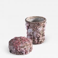 Tina Langhoff Tina Langhoff stoneware and porcelain jar with lid - 2015587